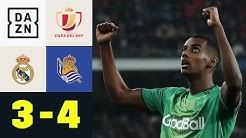 Madrid ist raus! Ex-BVB-Stars dürfen feiern: Real Madrid  - Real Sociedad 3:4 | Copa del Rey | DAZN