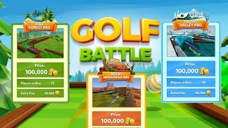 GOLF BATTLE - PLAYING IN ALL 3 TIERS AND GETTING BETTER WITH 14 MILLIONS COINS