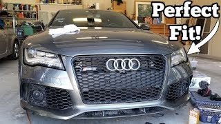 The Wrecked Audi RS7 is Coming Back Together! Lining Up the Front End & Testing Night Vision