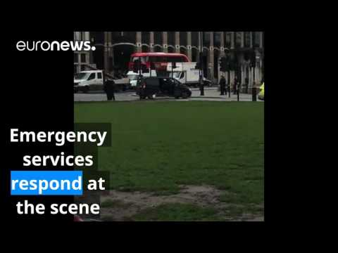 Westminster attack: Amateur video from the scene
