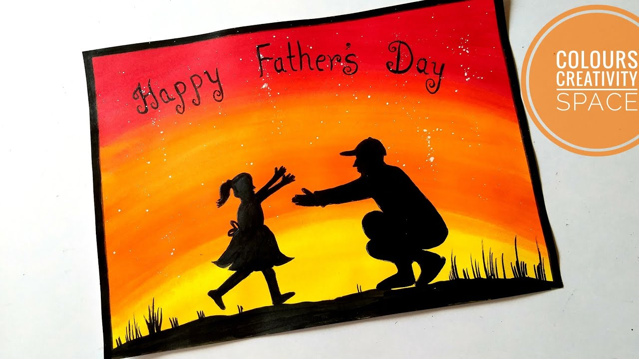Father S Day Easy Painting Father S Day Painting Ideas Easy Beginners Tutorial Father S Day Gift Youtube