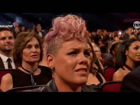 Did Pink SHADE Christina Aguilera's 2017 AMAs Performance?