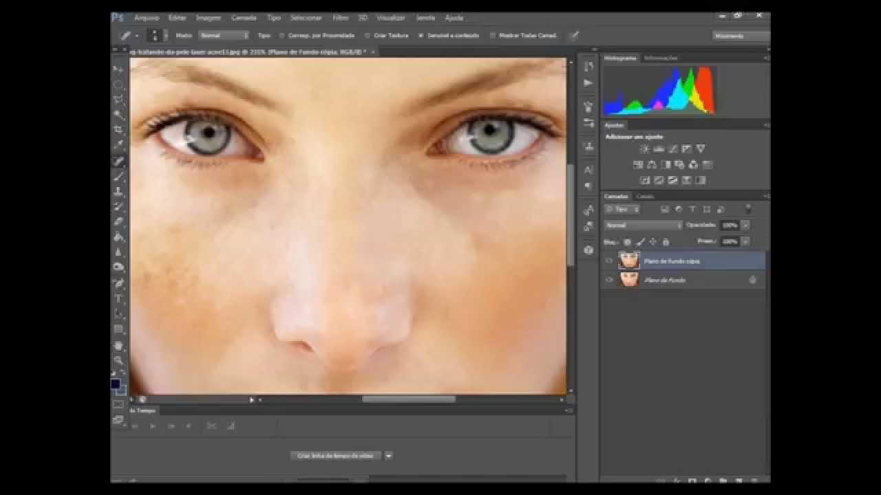 Como Fazer Limpeza De Pele No Photoshop Cs6 Youtube
