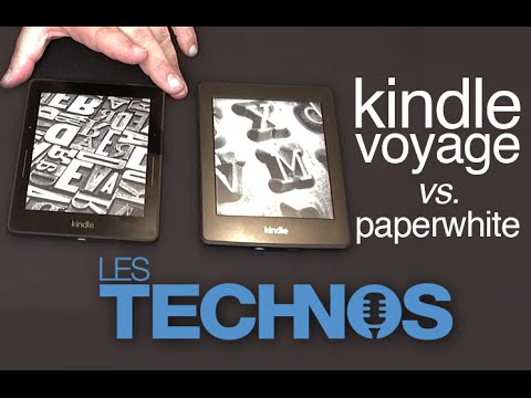 Kindle Voyage vs. Kindle Paperwhite (présentation, test)