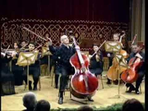 Catalin Rotaru, double bass - Mozart violin concerto no. 5 in A Major, K.219