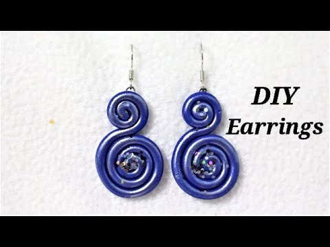 Polymer Clay Tutorials | DIY Easy To Make Polymer Clay Earrings With Noodles | 5 minute Jewelry