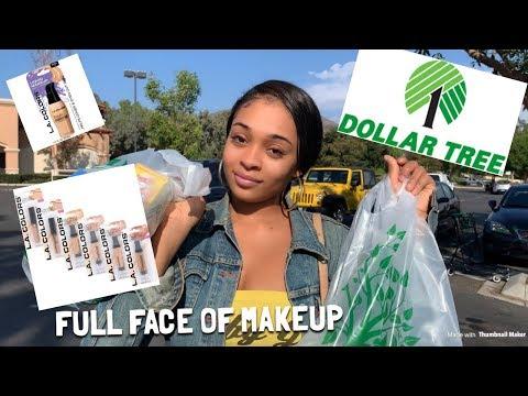 full-face-of-dollar-tree-makeup- -dollar-store-makeup-challenge