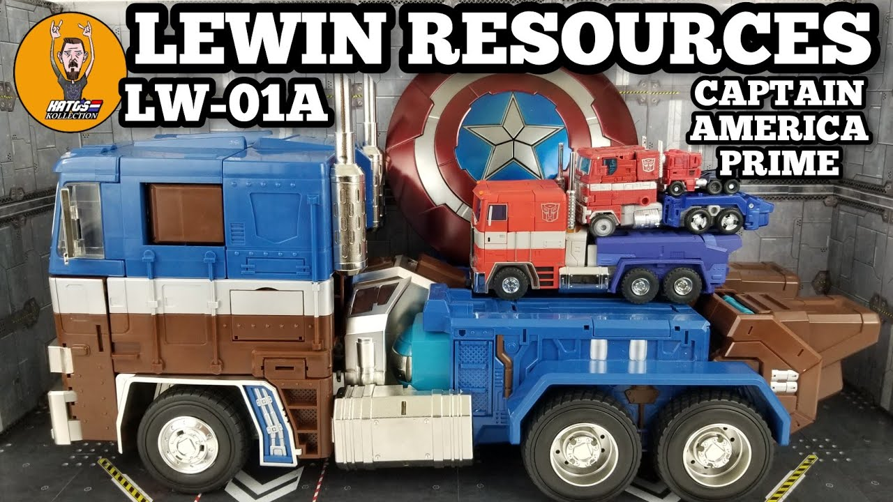 Lewin Resources LW-01A Atlas Captain America Optimus Prime Review By Kato's Kollection