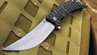 Kizer Nomad: S35VN, Persian Blade, Titanium Handle