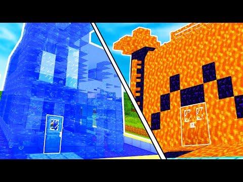 CASA DI LAVA CONTRO CASA DI ACQUA!! - Case Pazze su Minecraft