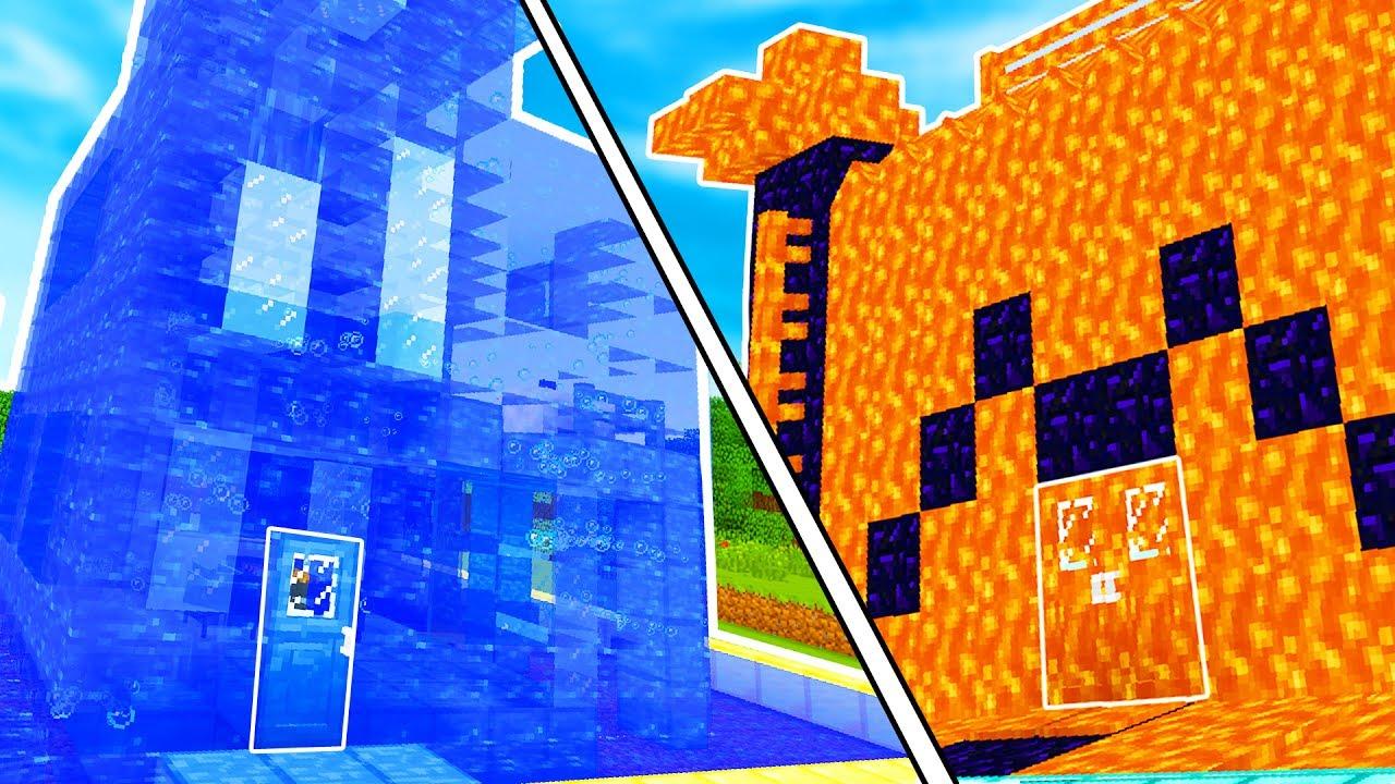 Casa di lava contro casa di acqua case pazze su minecraft youtube - Depurare l acqua di casa ...