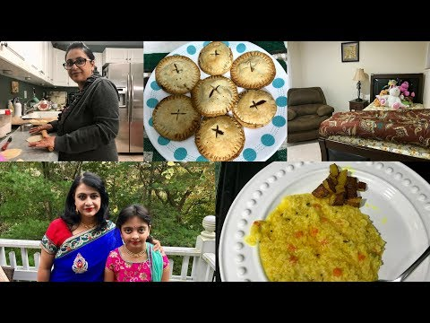 Monday Cleaning ,Cooking & Baking Apple Pie   Indian(NRI) Mom's Life   Simple Living Wise Thinking