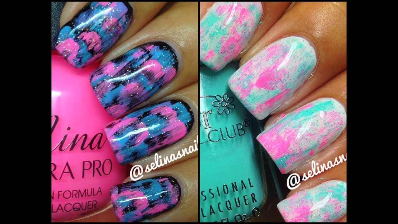 Quick easy nail art dab method youtube prinsesfo Image collections
