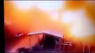 Momento exacto de la explosión en la petroquímica Pajaritos en Coatzacoalcos, Veracruz