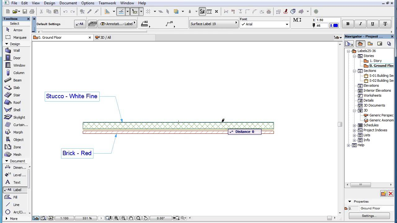 Archicad label types surface label youtube