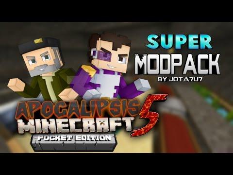 Super ModPack De Apocalipsis Minecraft 5 Para Minecraft Pe 1.0 (11 Mods)