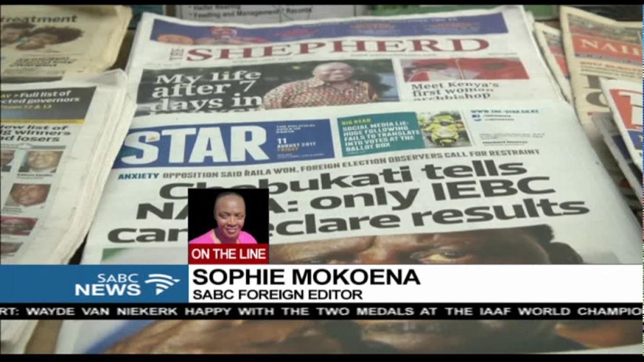 Kenya final results to be released on the weekend: Sophie Mokoena updates