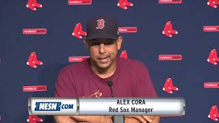Alex Cora outlines starting rotation for rest of the season