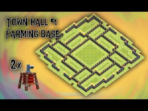 Clash Of Clans - Town Hall 9 (TH9) DE Farming Base