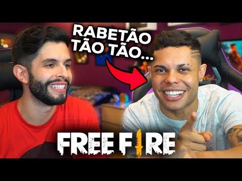 ELE CARREGOU?!? MC LAN ME CHAMOU PRA JOGAR FREE FIRE!!!