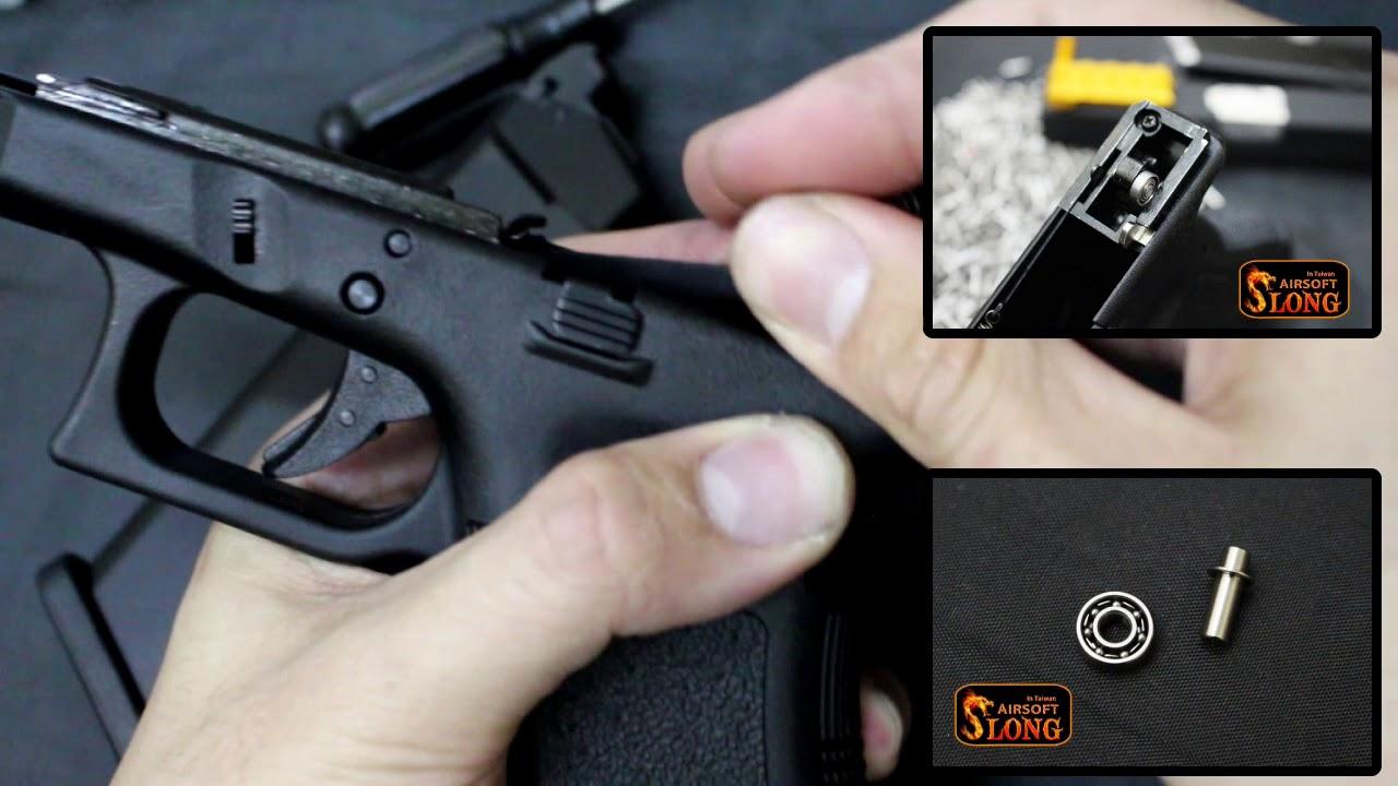 SLONG hammer 8mm Bearing set for MARUI WE GLOCK (GLOCK 零阻力滑架套件 8mm)