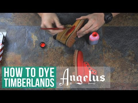 How to Suede Dye Timberlands | Angelus Suede Dye