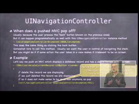 Stanford University Developing iOS 7 Apps: Lecture 6 - Polymorphism with Controllers, UI