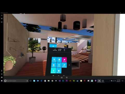 Tour of the Windows Mixed Reality Cliff House.