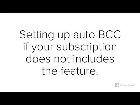 Auto Outlook BCC for Zoho Recruit