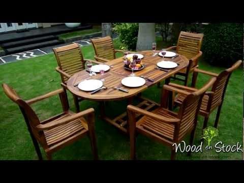 Salon De Jardin En Teck Bali Raja Huil M2ts