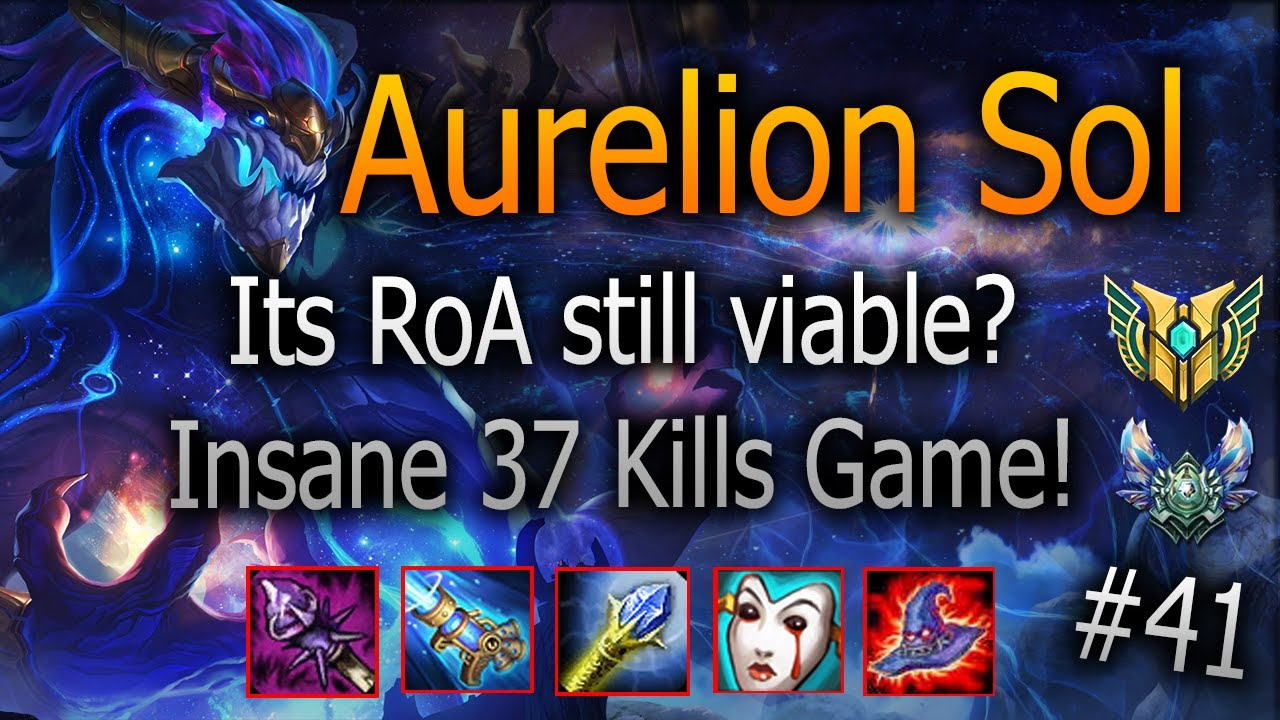 Aurelion Sol - It´s Rod of Ages worth it? Insane Build! (8.8 K Hp/8 AP)