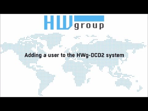 Adding a user to the HWg DCD2 system