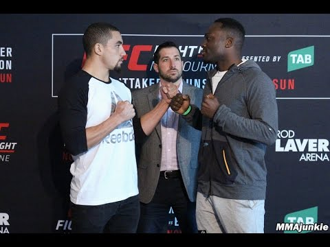 UFC Fight Night 101 Main Card Fighters Face Off At Media Day In Melbourne