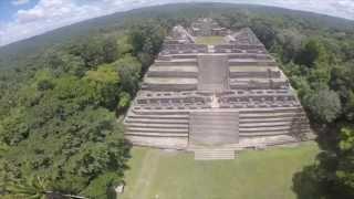 Pyramids at Caracol (Belize), Nakum & Naranjo (Guatemala).