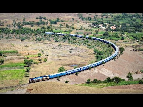 1 OF THE MOST DANGEROUS HORSESHOE CURVE ON INDIAN RAIL NETWORK