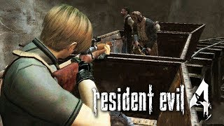 RESIDENT EVIL 4 #17 - Nos Trlhos Do Trem Com Zombies (PC Pro Gameplay em Inglês)
