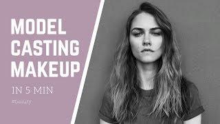 Model casting make-up // Простой Макияж Для Кастинга