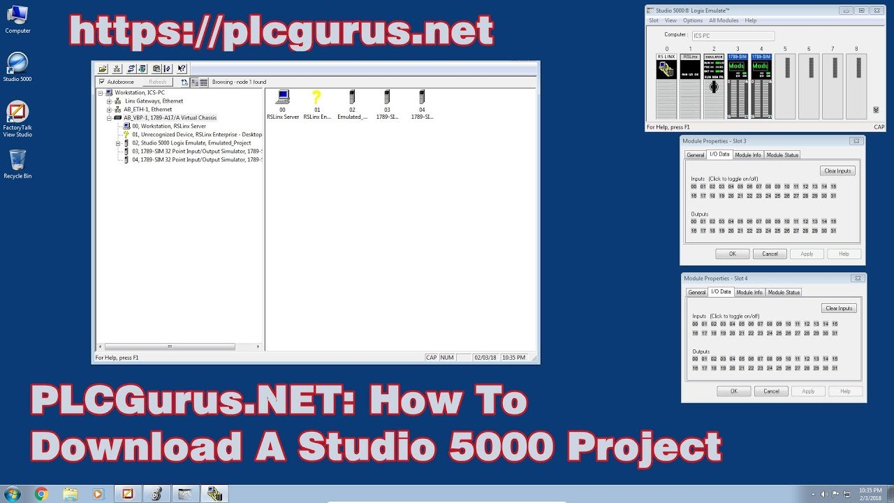 PLCGurus NET - How To Download Studio 5000 Project