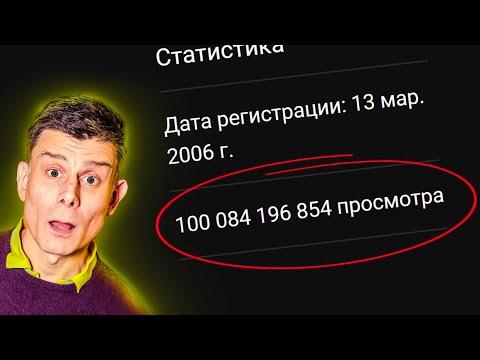 Новый Рекорд на YouTube : 100 МИЛЛИАРДОВ просмотров