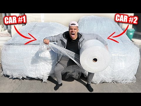 INSANE BUBBLE WRAP CAR PRANK ON MOM AND DAD!! (100+ ROLLS RE