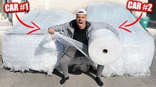 INSANE BUBBLE WRAP CAR PRANK ON MOM AND DAD!! (100+ ROLLS REVENGE PRANK)