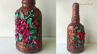 1 minute craft  /Glass Bottle art