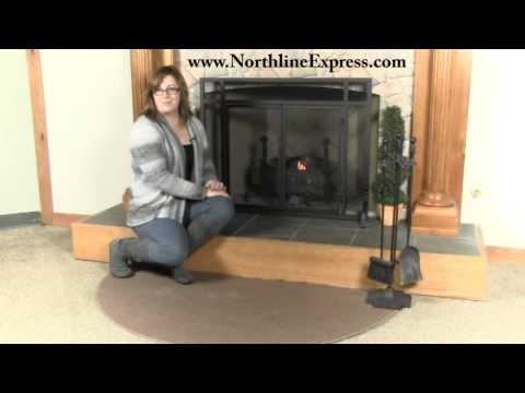 Brown 5' Half Round Guardian Fireplace Rug