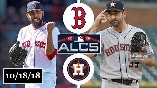 Boston Red Sox vs Houston Astros Highlights || ALCS Game 5 || October 18, 2018