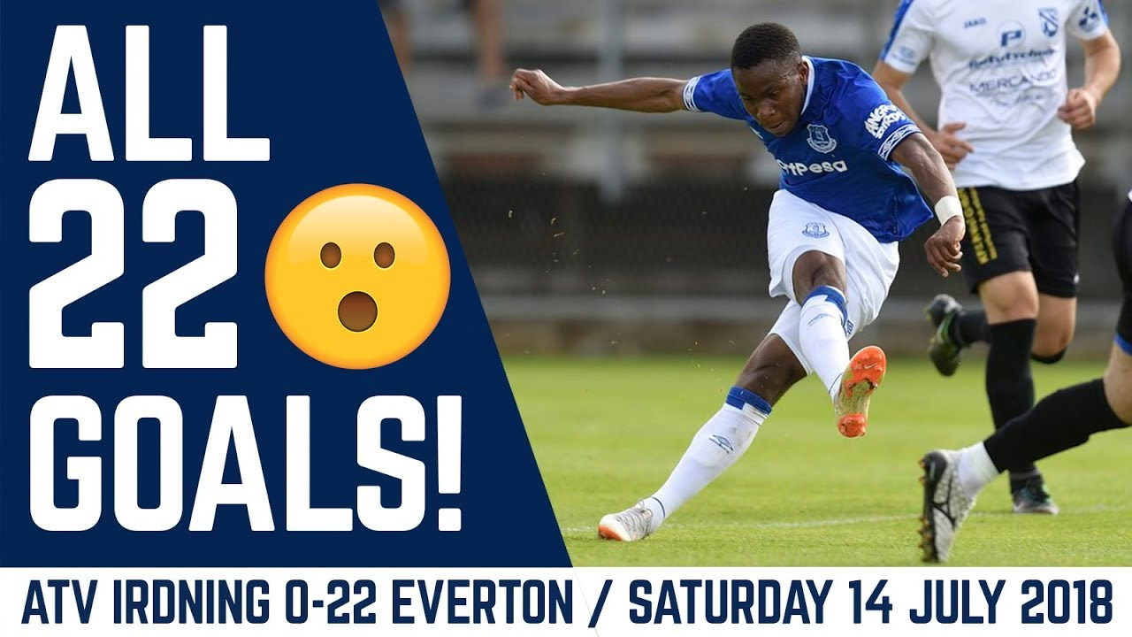 ALL 22 GOALS! | ATV IRDNING 0-22 EVERTON: MARCO SILVA'S FIRST GAME Video