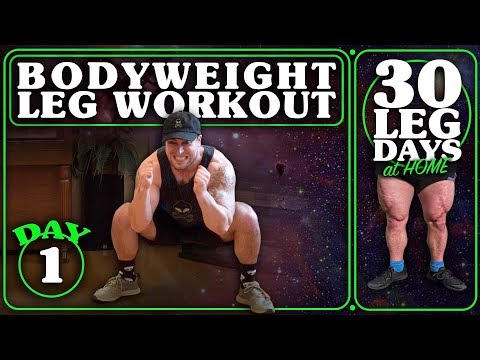 Bodyweight Leg Workout At Home   30 Days Of Leg Day At Home Without Equipment Day 1