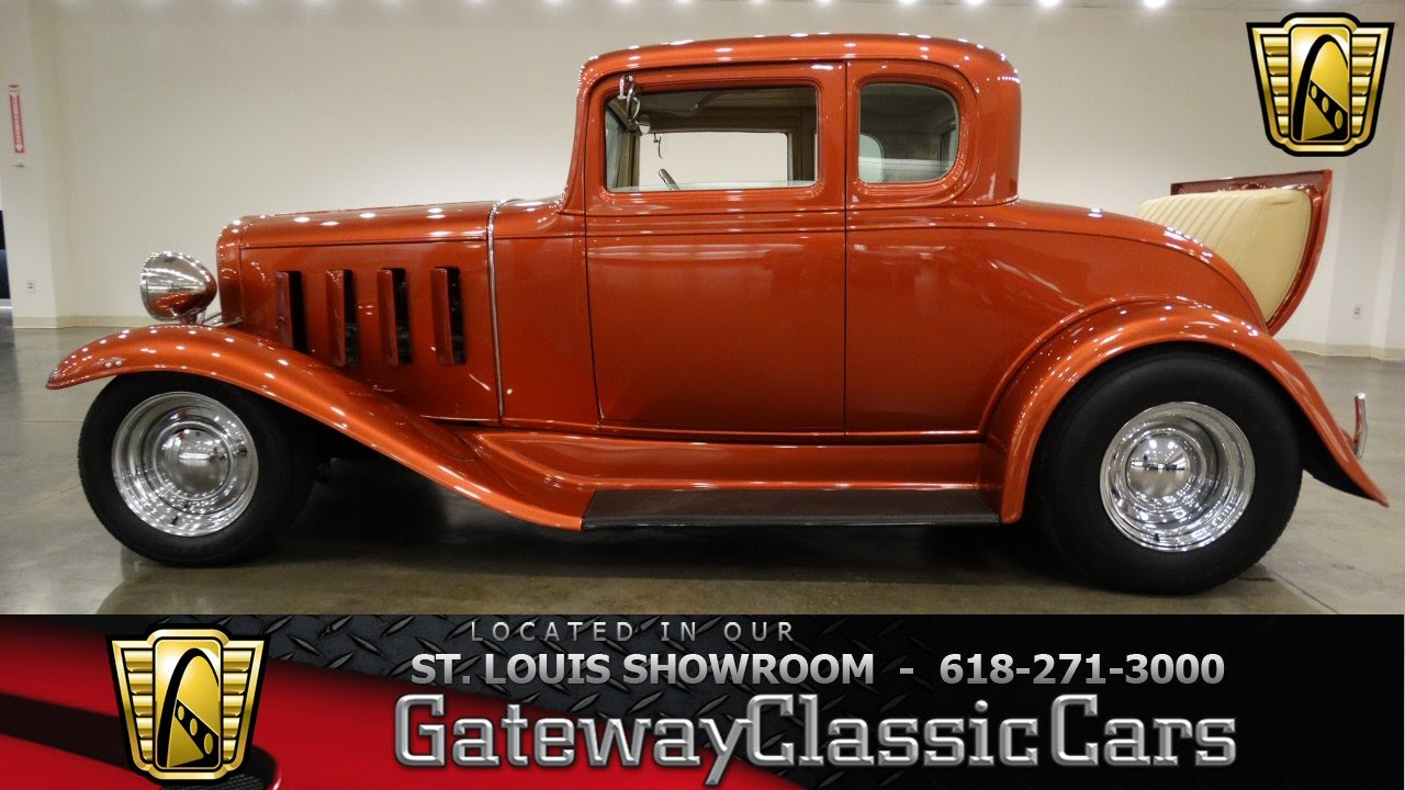 hight resolution of 1932 chevrolet 5 window coupe gateway classic cars st louis 6508 youtube