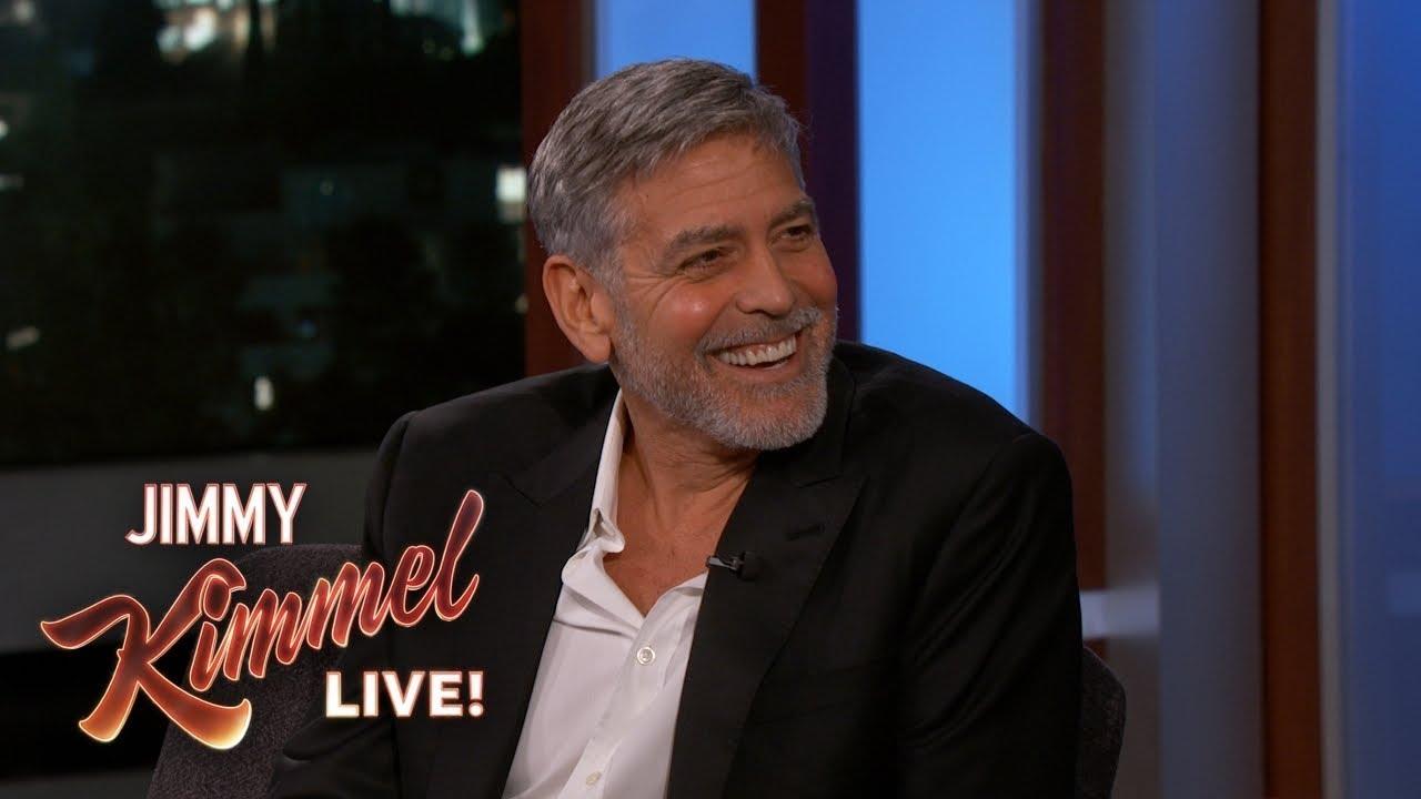 Роденденско гостување на Џорџ Клуни кај Кимел – зборува за близнаците, Амал и роднините