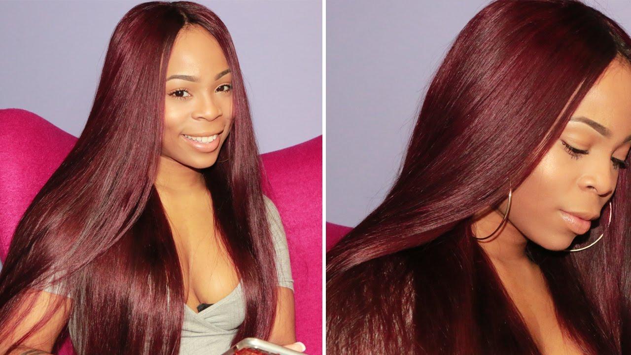 How To Dye Your Hair Burgundy Super Nova Hair Review Youtube