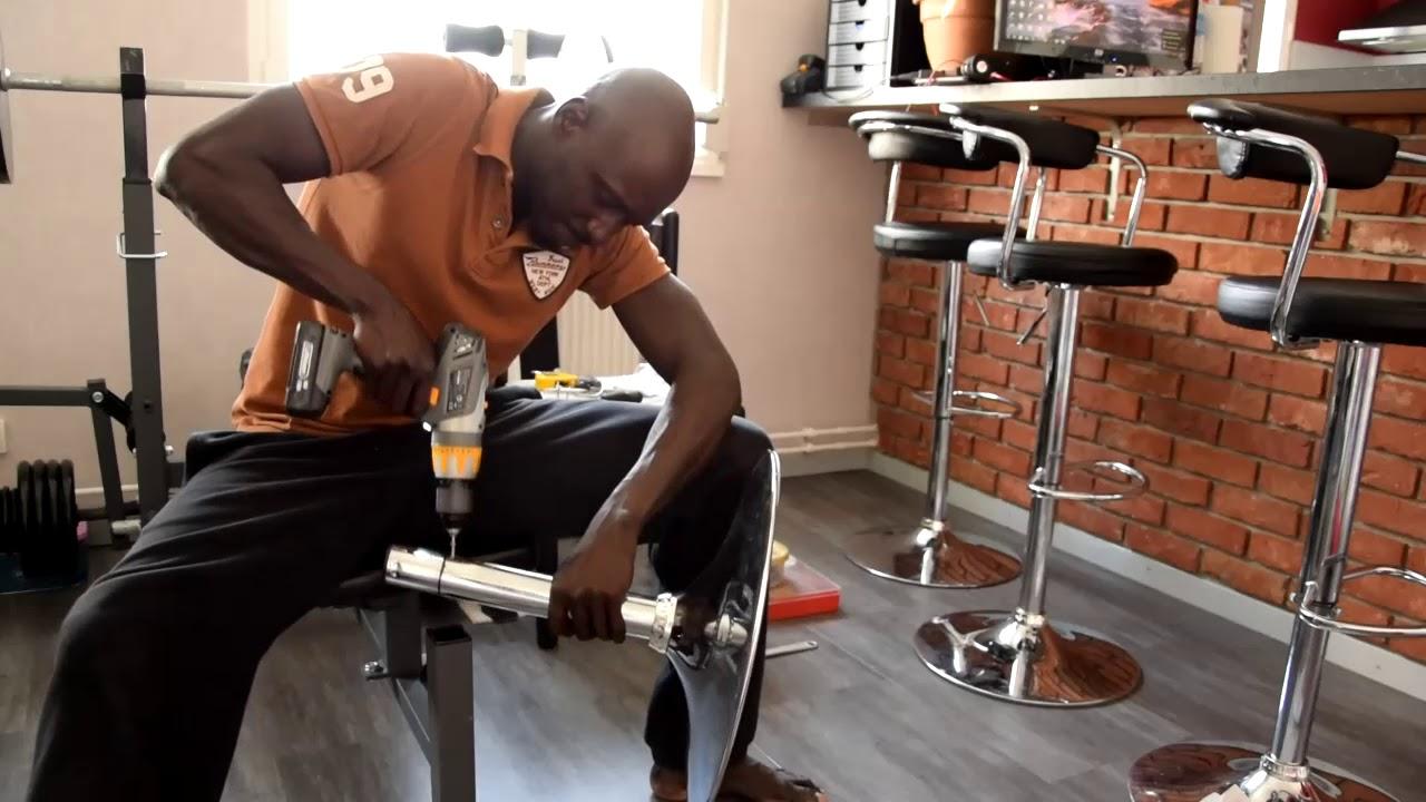Démonter Un Tabouret De Bar chapitre 2- bricolage tabouret de bar - vérin cassé- bar stool - gas lift